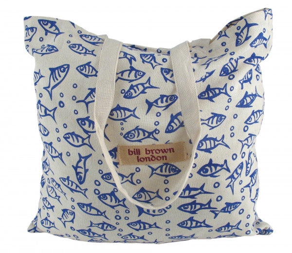 Bill Brown Sophie Fish Fabric Design Shopper Bag - Feathers Of Italy