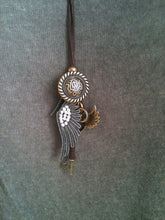 Load image into Gallery viewer, Steampunk Pendant Necklace - Angel Wing - Feathers Of Italy