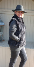 Load image into Gallery viewer, Verona Fur Gilet in Grey - Feathers Of Italy