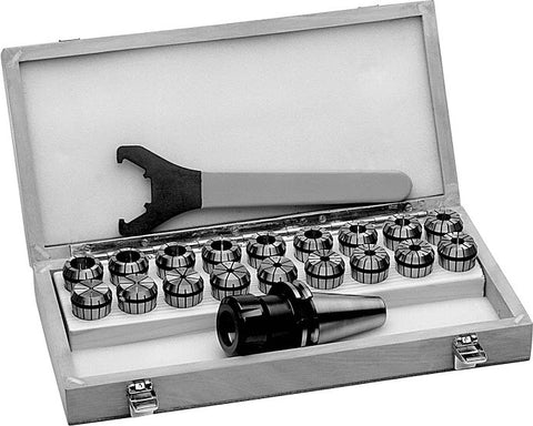 Master Tooling Set : ER16 Collet Set and Straight-Shank ER16 Collet Chuck (Extension) | 1 in.