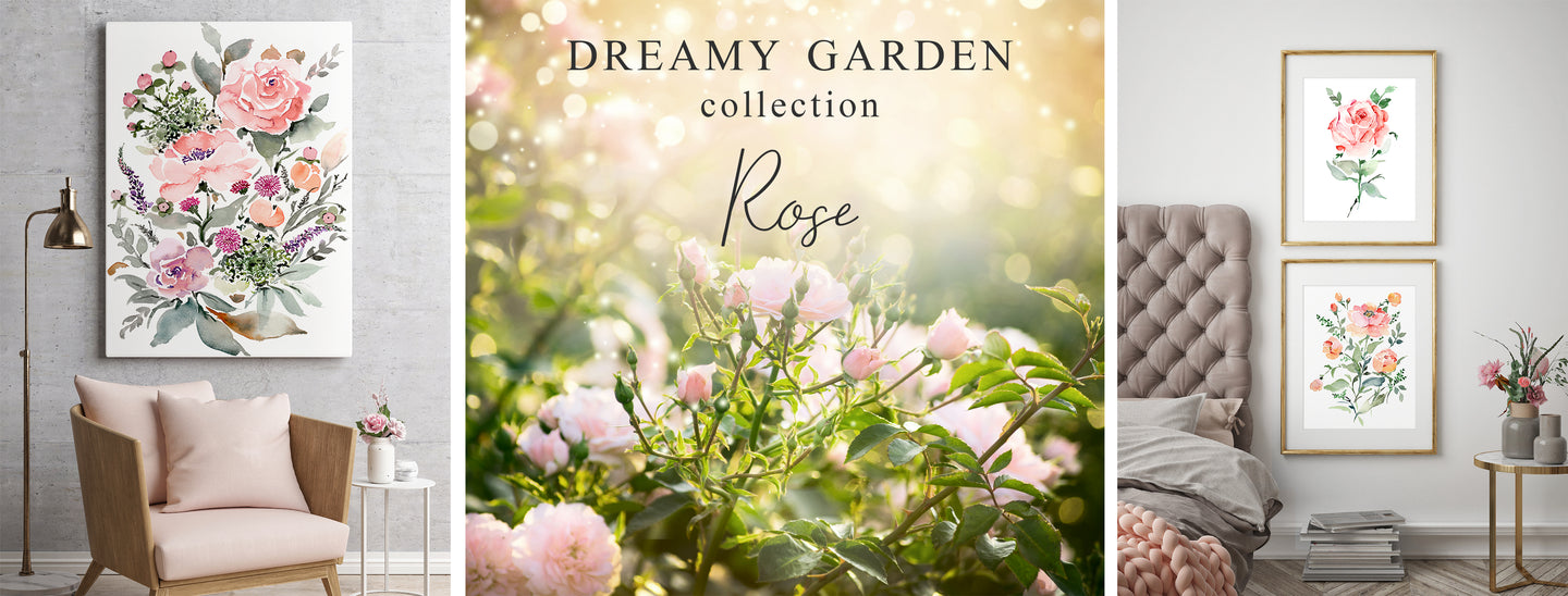 Dreamy Garden Collection Rose by Senay Design Studio