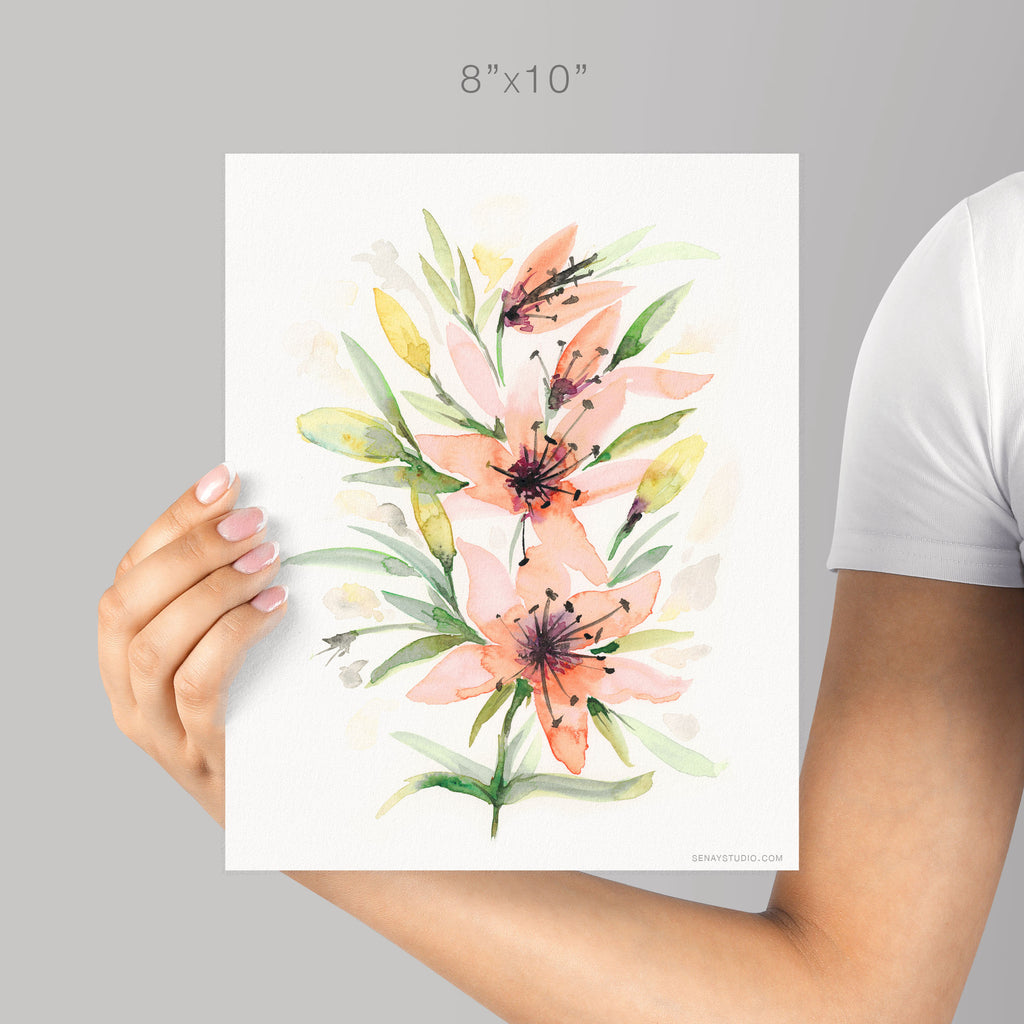 Lily giclée watercolour paper