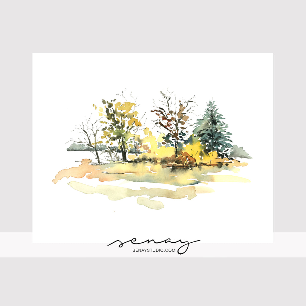 Autumn Scene giclée canvas (READY TO HANG)