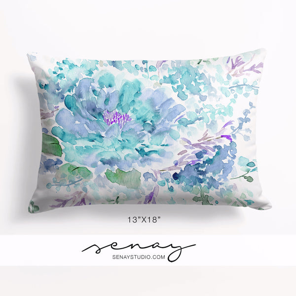 "Blue Ocean 13""x18"" pillow cover by Senay Design Studio"