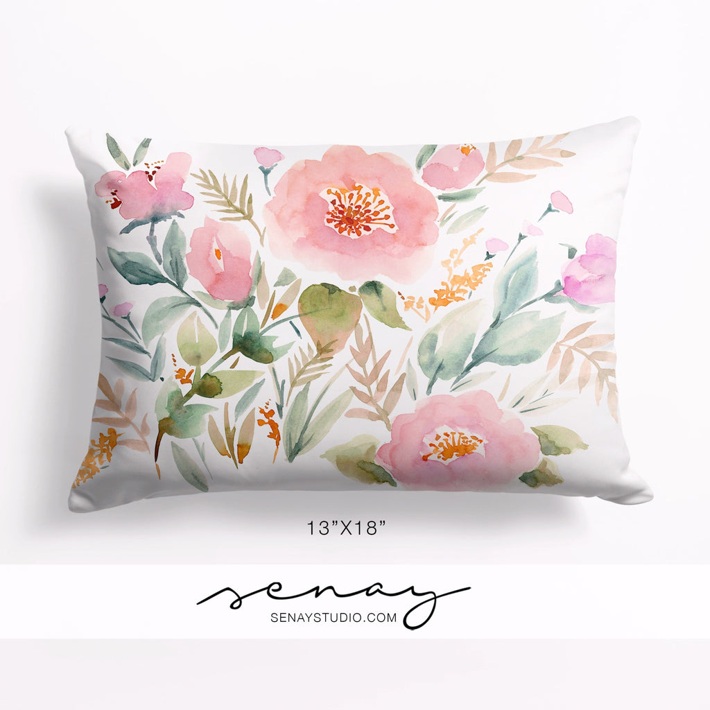 "Keira Garden 13""x18"" pillow cover by Senay Design Studio"