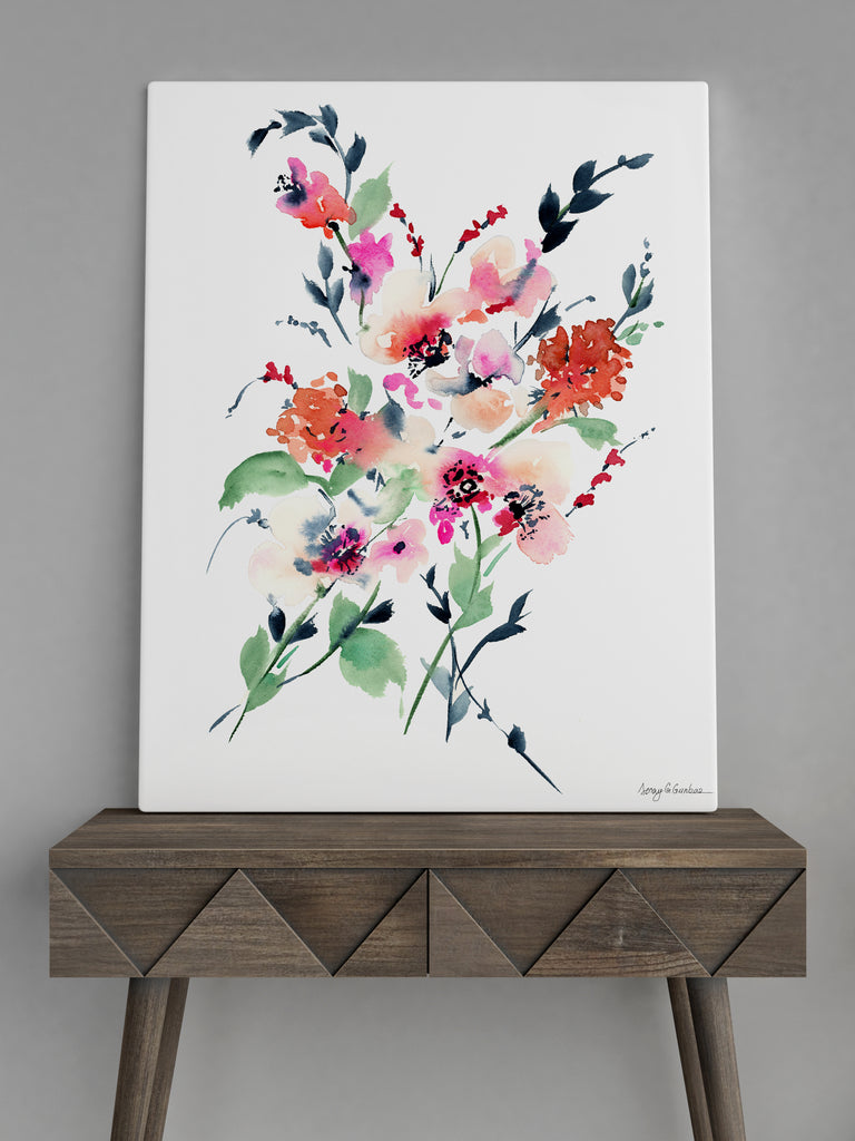 Gardenia giclée canvas (READY TO HANG)
