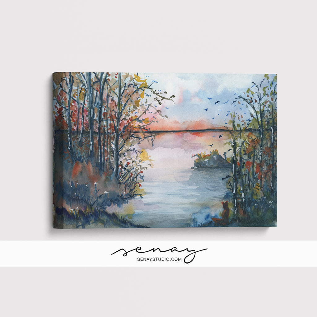 Sunset giclée canvas (READY TO HANG)