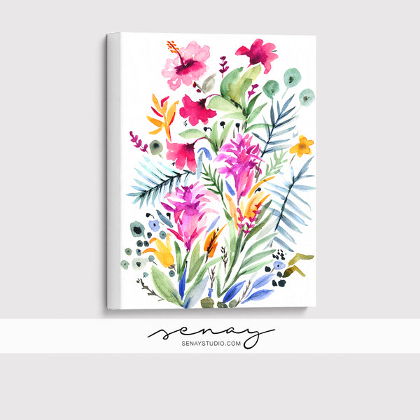 Tropical Garden giclée canvas (READY TO HANG)