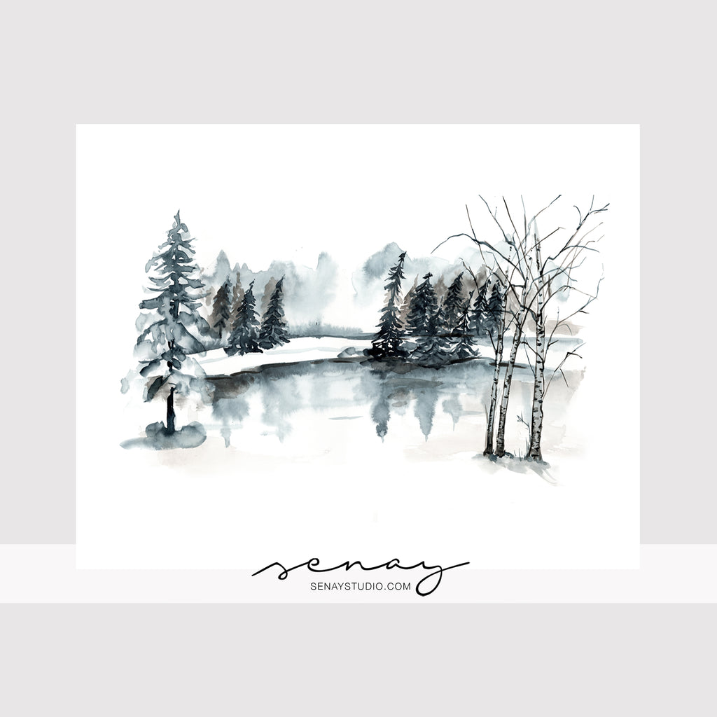 Winter Scene giclée canvas (READY TO HANG)