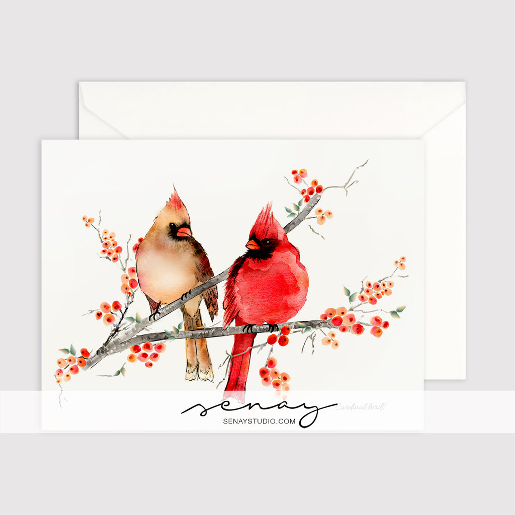 Cardinal Birds greeting card