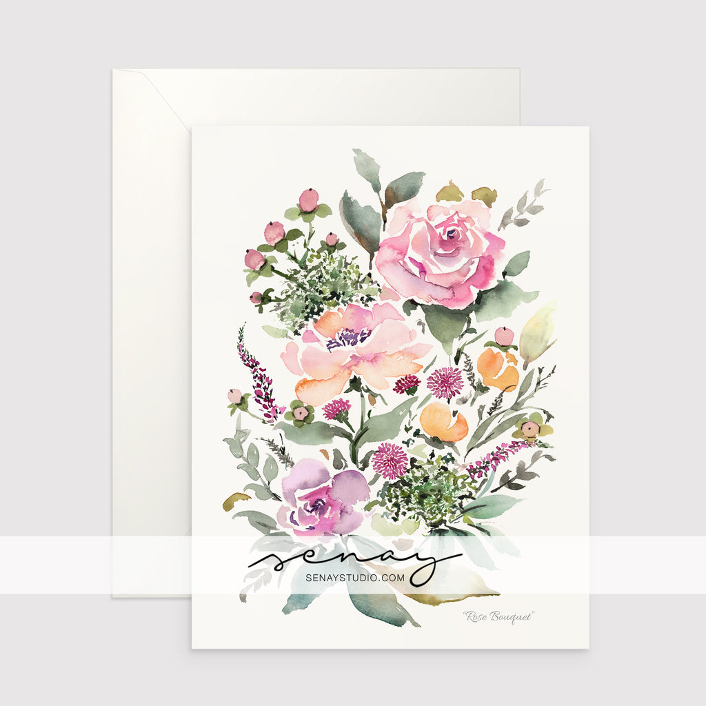 Rose Bouquet greeting card