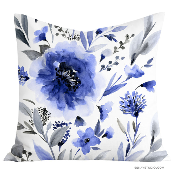 Blue Haven throw pillow cover - Senay Design Studio