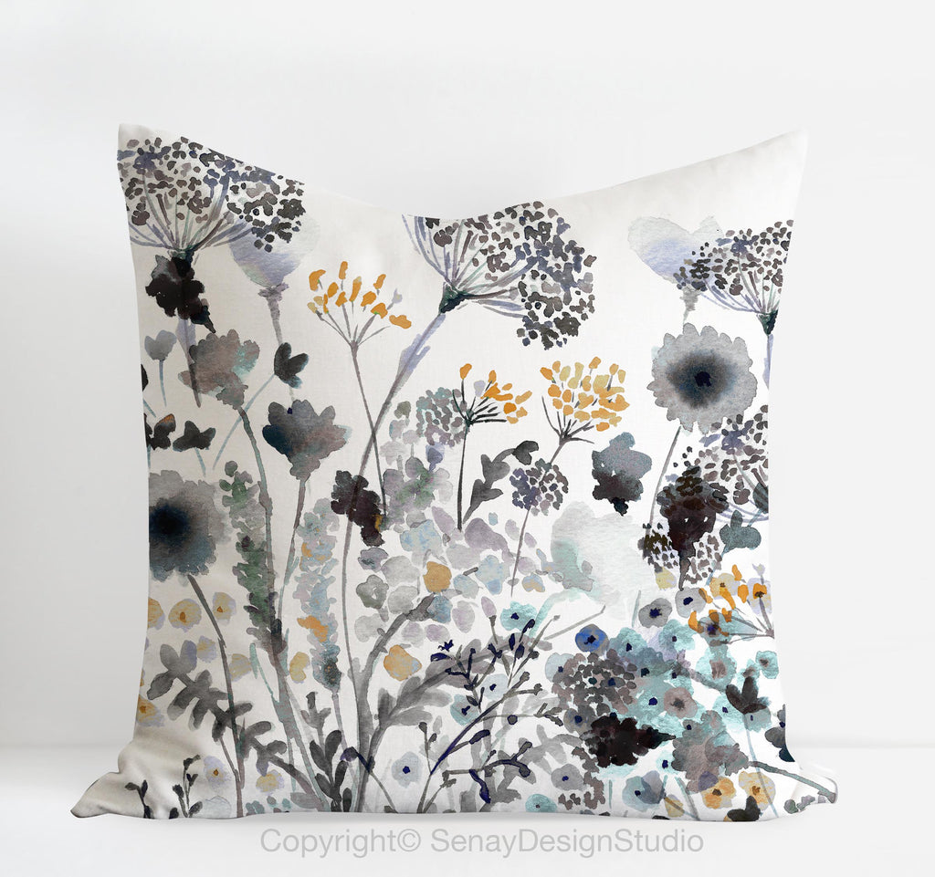 Foggy Meadow pillow cover - Senay Design Studio