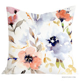 Beautiful Watercolour Floral My Dream Garden pillow cover - Senay Design Studio