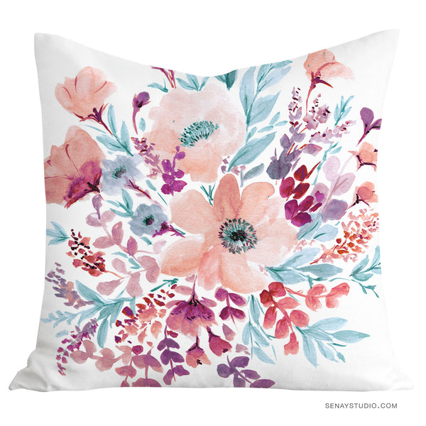 Serenity Rose pillow cover