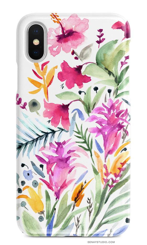Tropical Garden phone case - Senay Design Studio