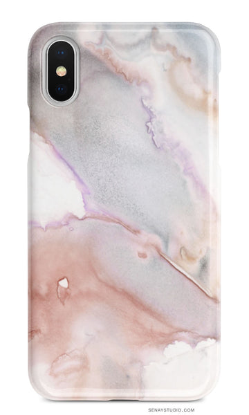 Blush Gray Marble phone case