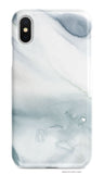 Gray Watercolour Marble phone case - Senay Design Studio