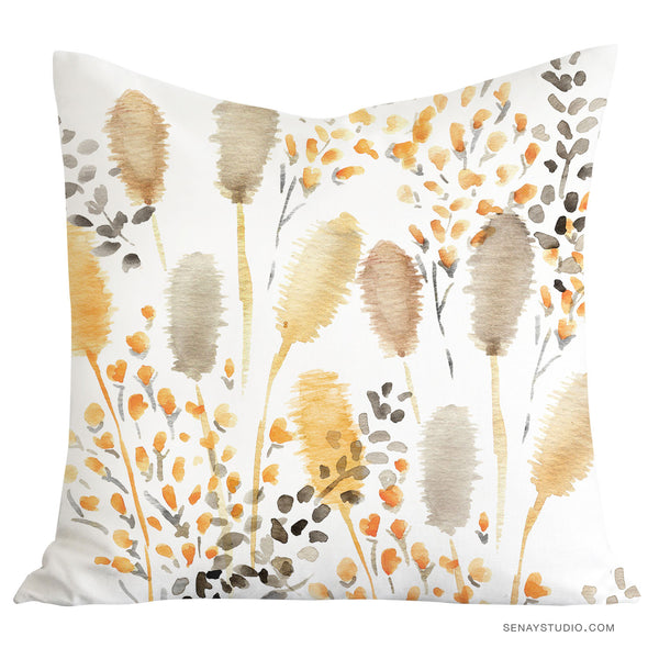 Yellow Grass throw pillow cover - Senay Design Studio