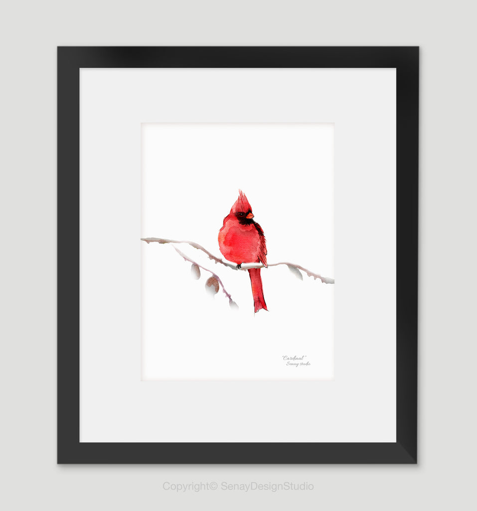 Red Cardinal giclée canvas (READY TO HANG)