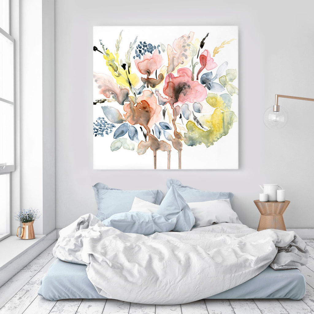 Abstract Floral giclée canvas (READY TO HANG) - Senay Design Studio