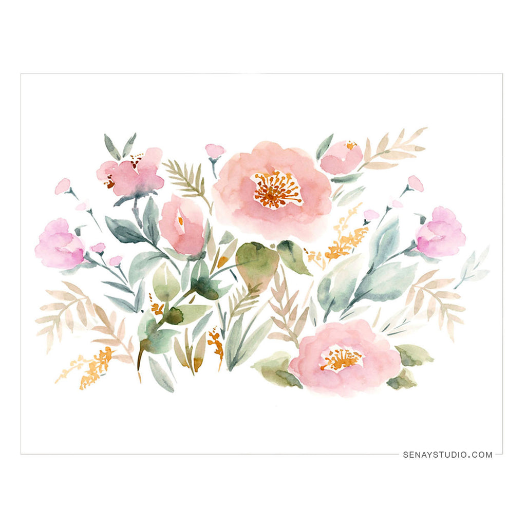 Keira Garden giclée canvas (Un-Stretched) - Senay Design Studio