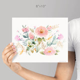 Keira Garden giclée canvas (READY TO HANG) - Senay Design Studio