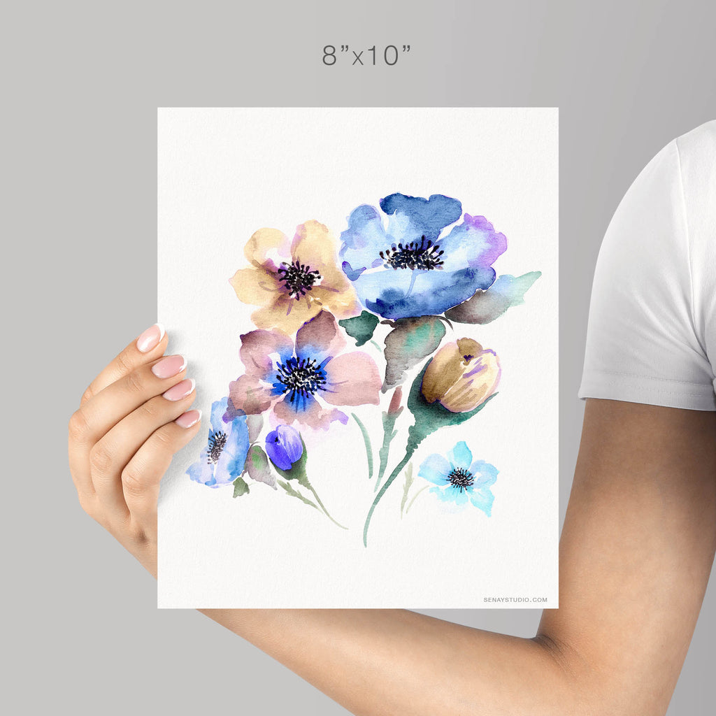Fine Art Print Signed By Artist Mountain Flowers Gicle