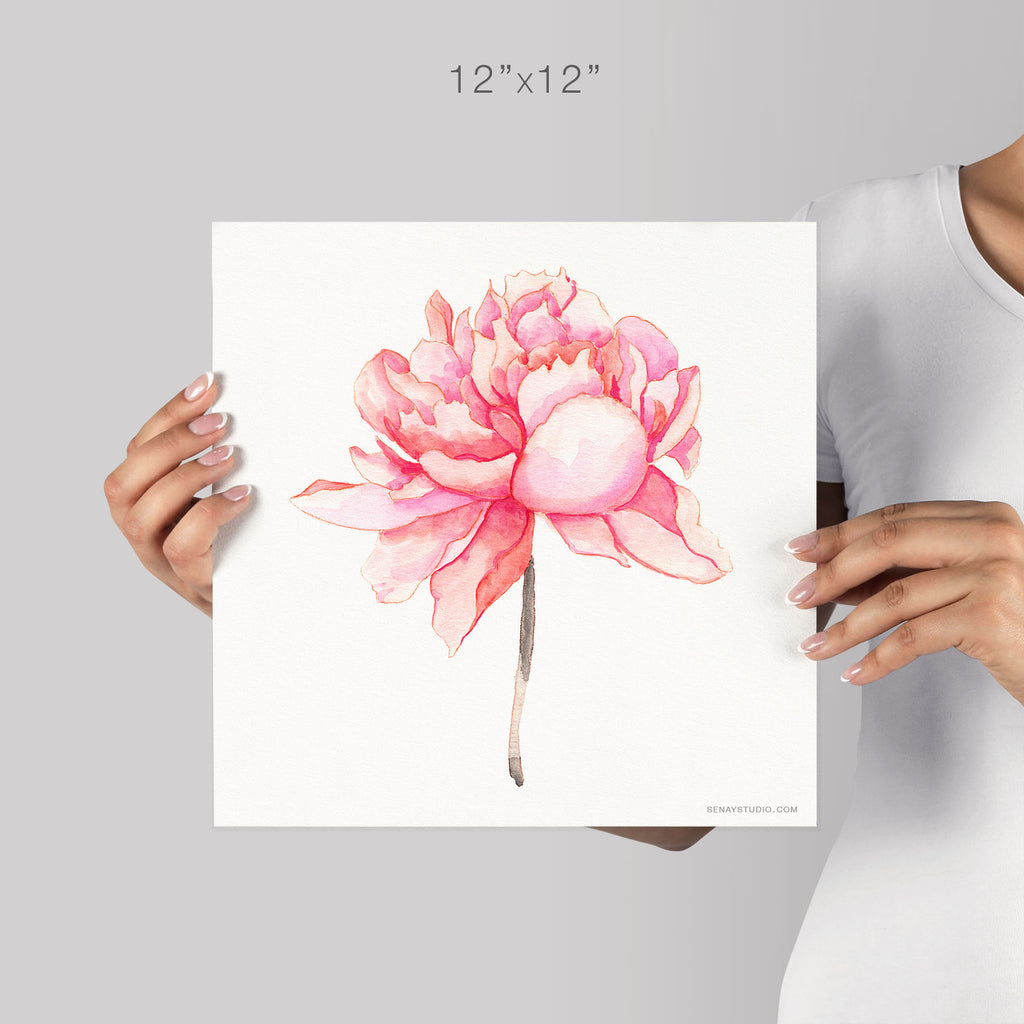 Pink Peony giclée canvas (READY TO HANG) - Senay Design Studio