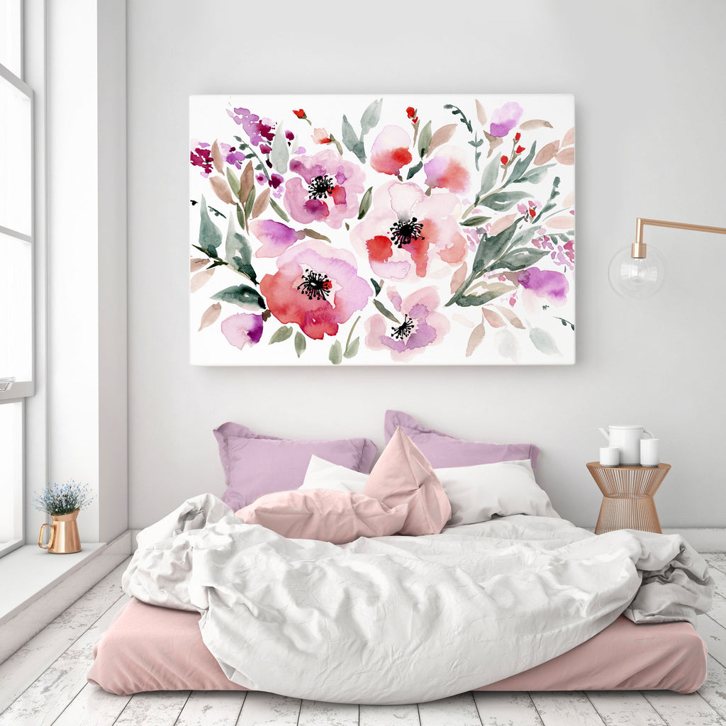 Red Roses giclée canvas (READY TO HANG) - Senay Design Studio