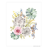 Succulent Garden giclée canvas (READY TO HANG) - Senay Design Studio