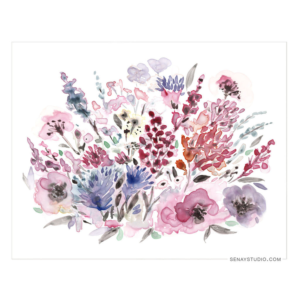 Violet Lake giclée watercolour paper - Senay Design Studio