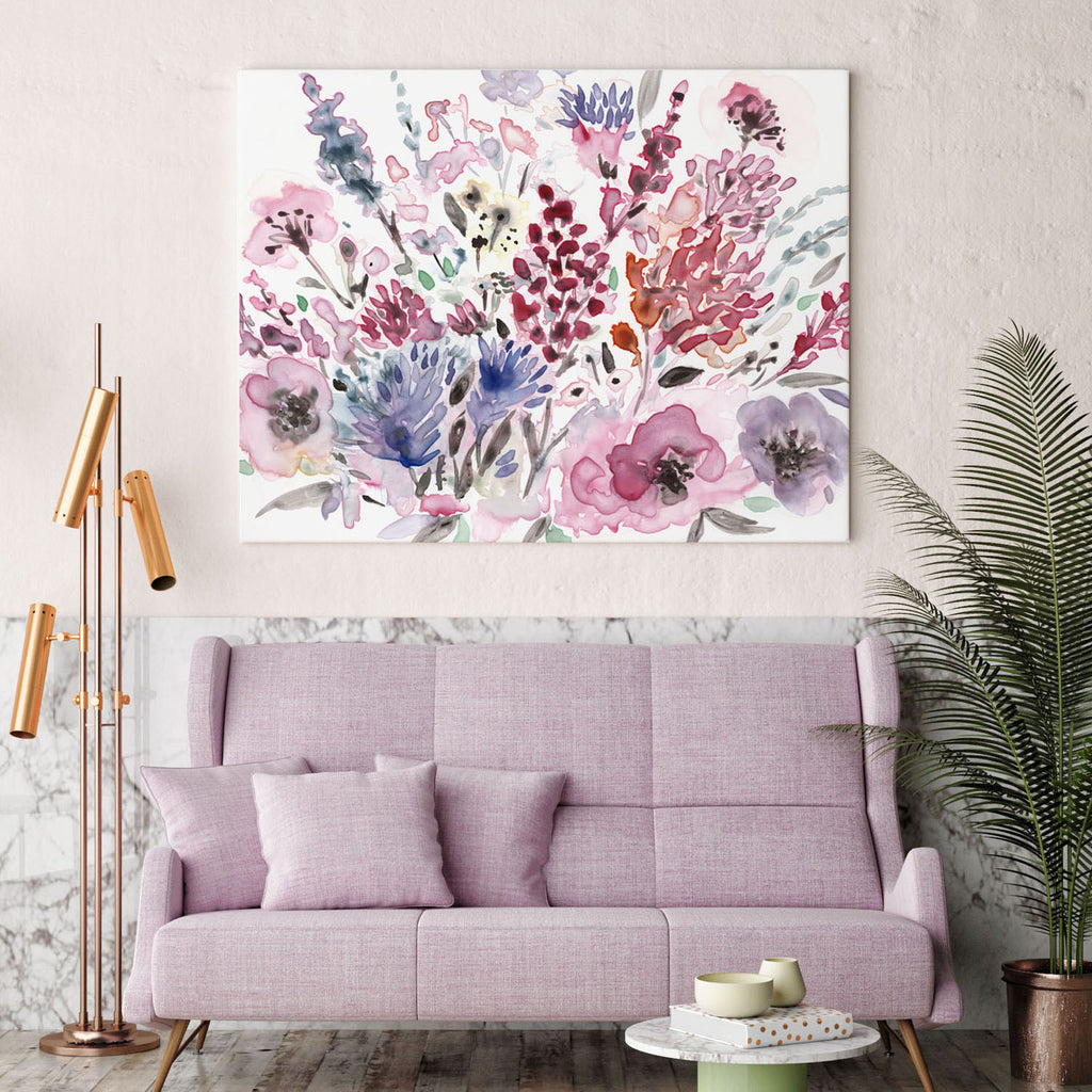 Violet Lake giclée canvas (READY TO HANG) - Senay Design Studio