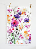 Garden Flowers Tea Towel - Senay Design Studio