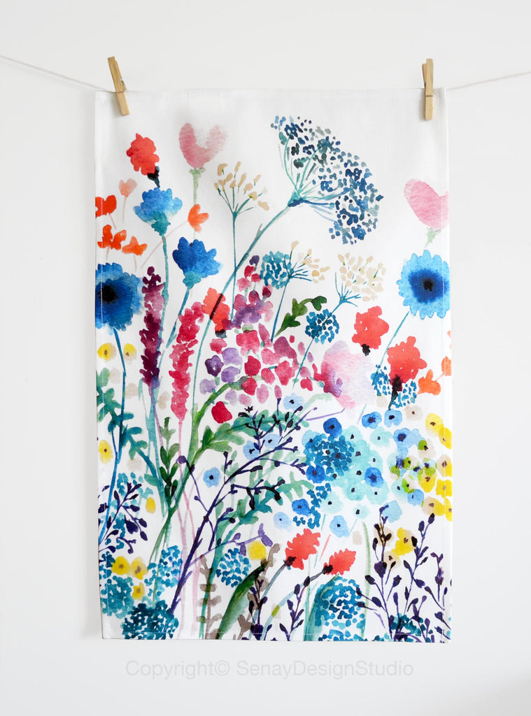 Summer Meadow Tea Towel - Senay Design Studio