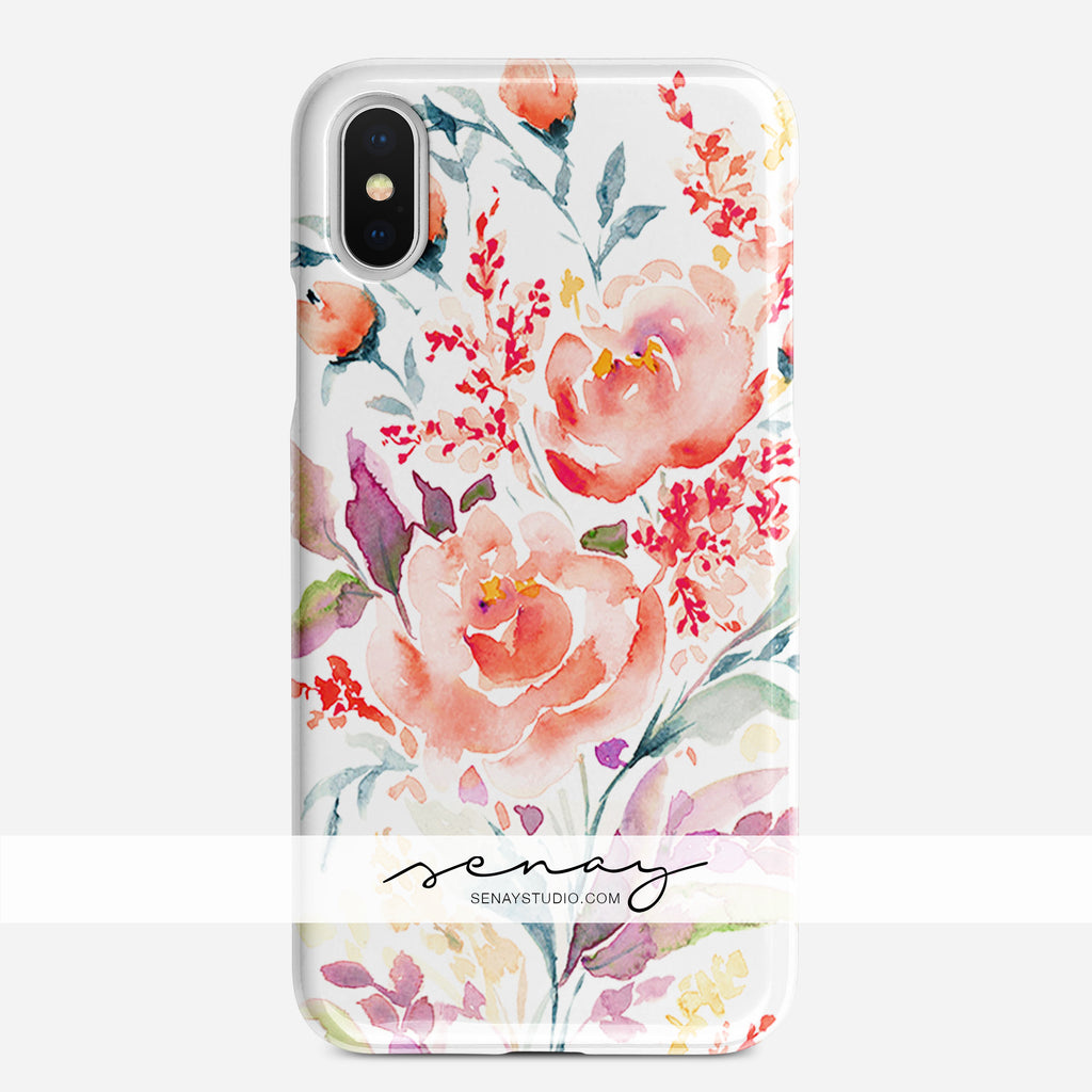 Coral Rose phone case