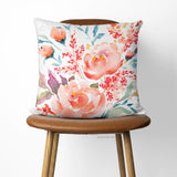 Coral Rose pillow cover