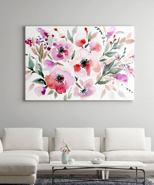 Red Roses giclée canvas (READY TO HANG)