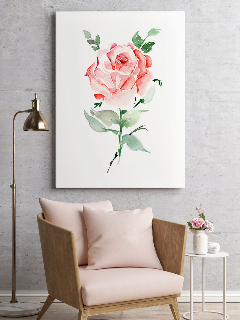 Rose giclée canvas (READY TO HANG)