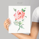 Rose giclée watercolour paper