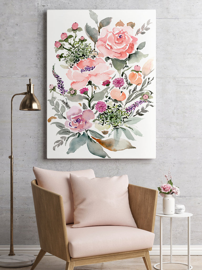 Rose Bouquet giclée canvas (READY TO HANG)