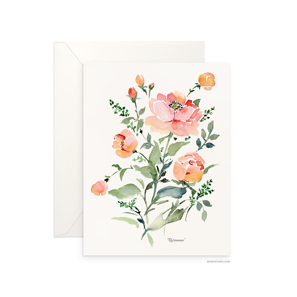 Roseanne greeting card