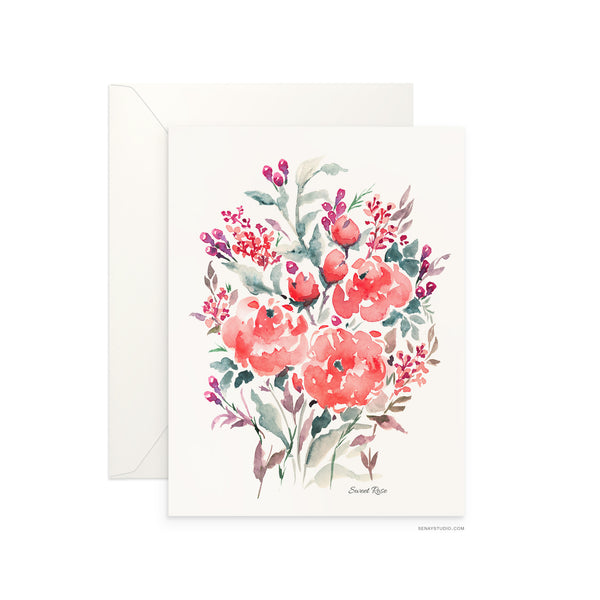 Sweet Rose blank card