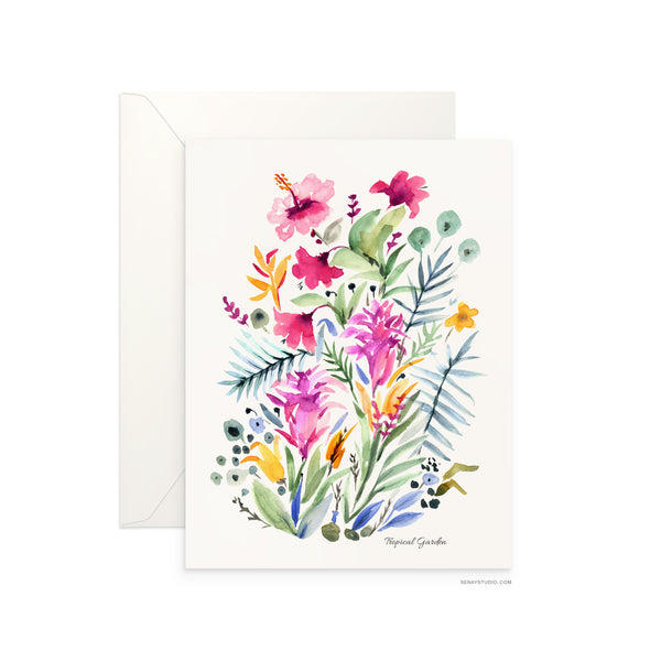 Tropical Garden blank card