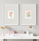 "Beautiful floral blank cards by Senay Design Studio, archival 5""x7"" floral cards"