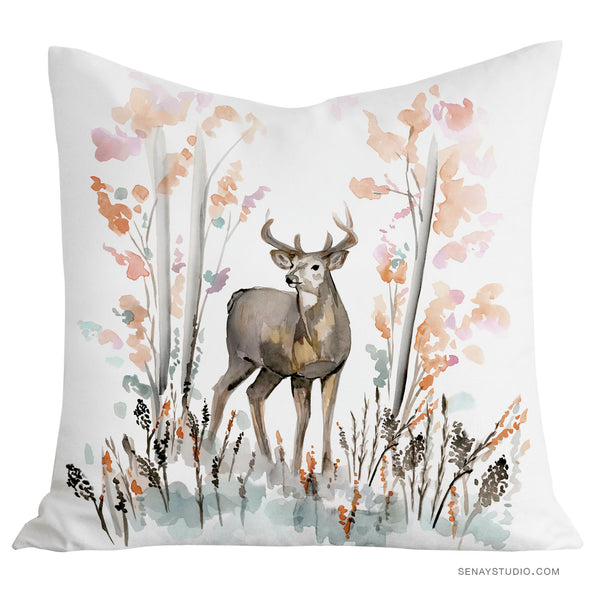 Beautiful Deer toss pillow cover