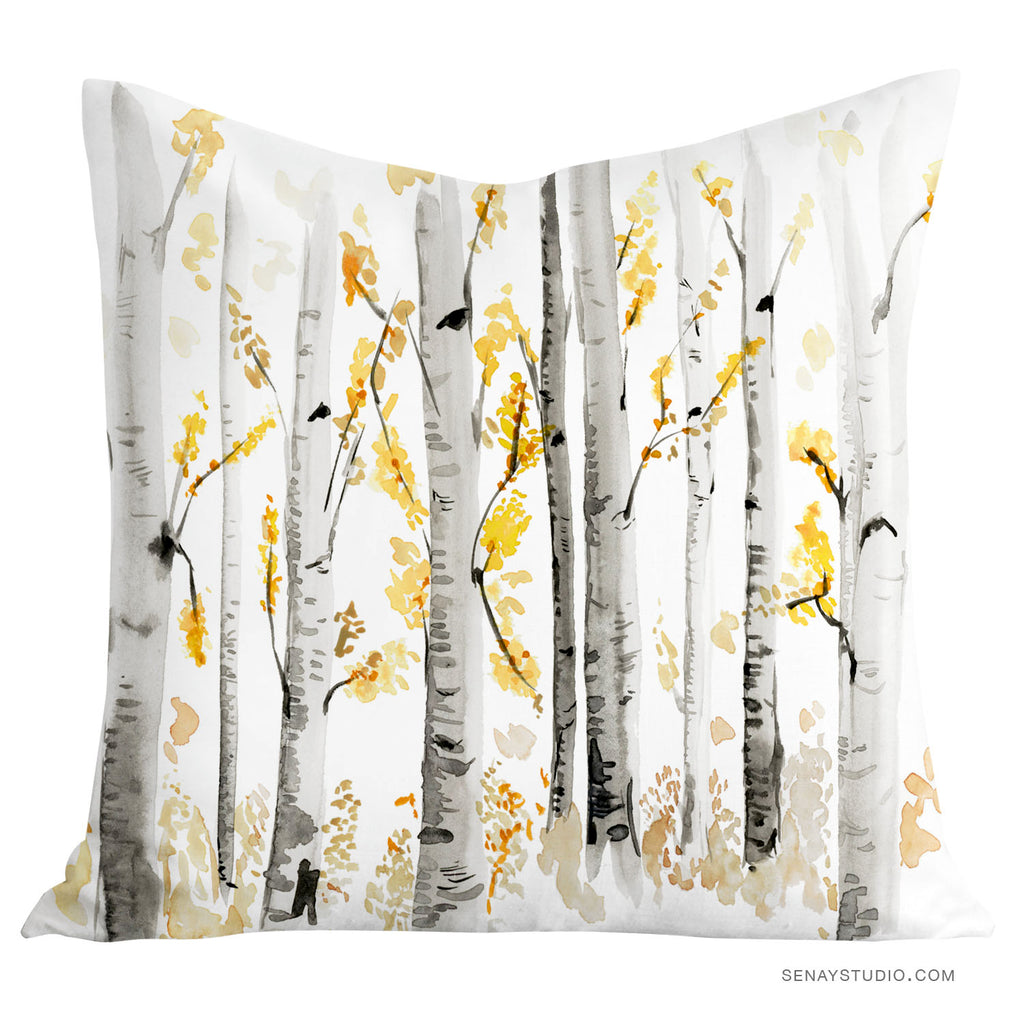 Birch Trees toss pillow cover
