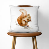 Chipper The Squirrel toss pillow cover