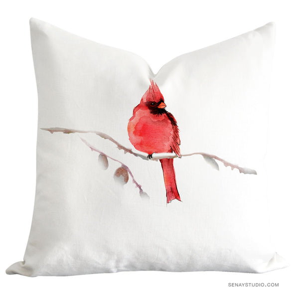 Red Cardinal toss pillow cover