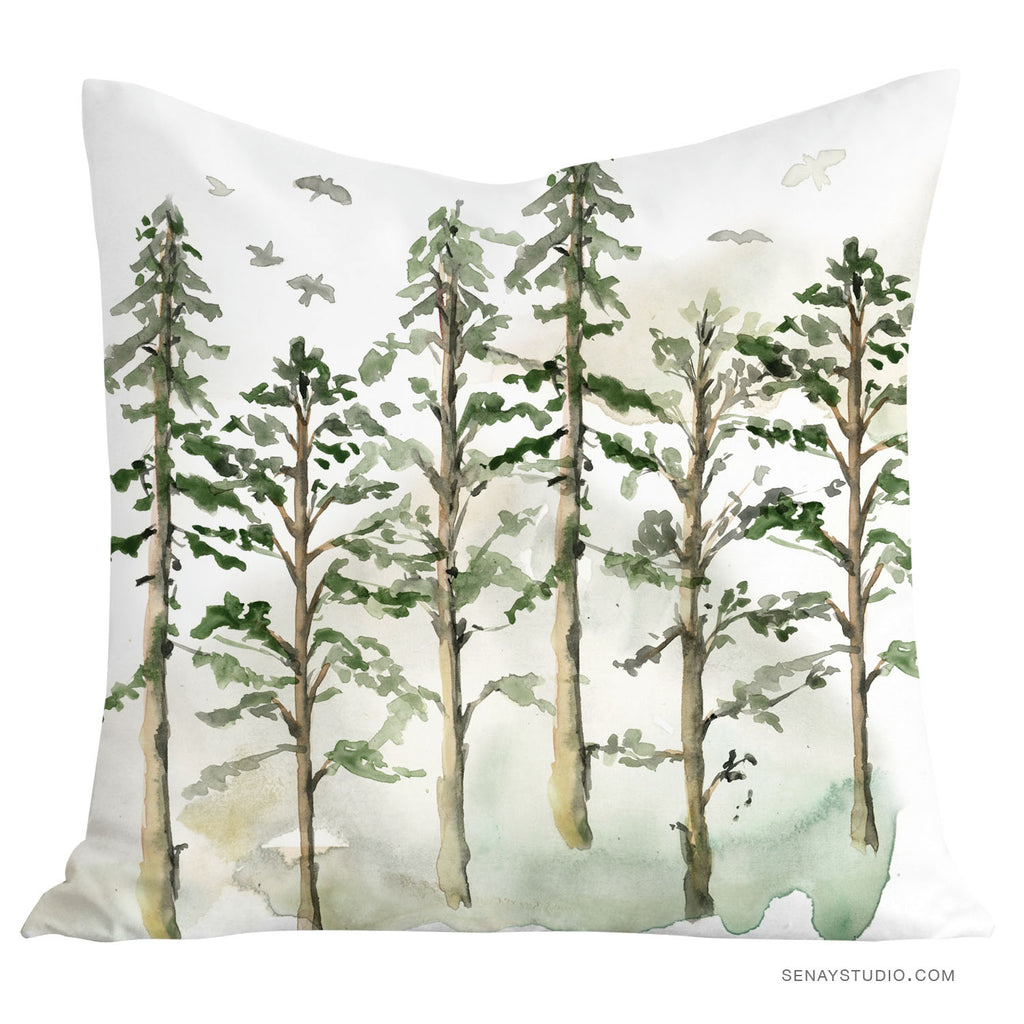 Woodland Trees pillow cover